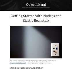 Getting Started with Node.js and Elastic Beanstalk