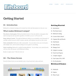 Getting Started — Bitsboard