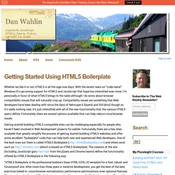 Getting Started Using HTML5 Boilerplate - Dan Wahlin's WebLog