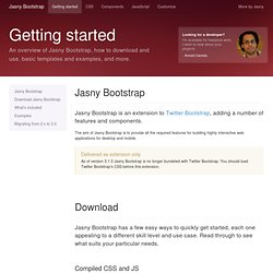 Getting started · Jasny Bootstrap