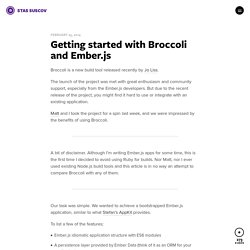 Getting started with Broccoli and Ember.js