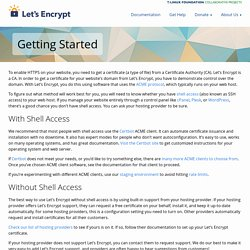 Getting Started - Let's Encrypt - Free SSL/TLS Certificates