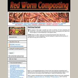 Red Worm Composting