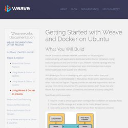 Weave - All you need to connect, observe and control your containers