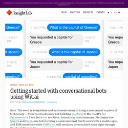 Getting started with conversational bots using Wit.ai