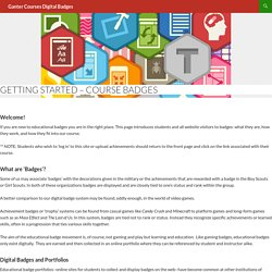 Getting Started – Course Badges