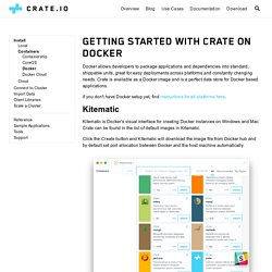 Getting Started with Crate on Docker