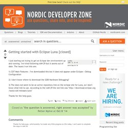 Getting started with Eclipse Luna [closed] - Nordic Developer Zone