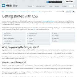 Getting Started (CSS Tutorial)