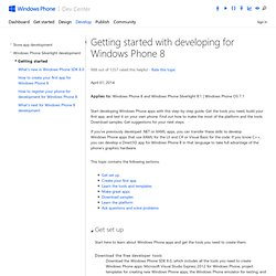 Getting started with developing for Windows Phone
