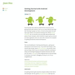 Getting Started with Android Development « Jean Hsu
