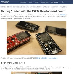 Getting Started with the ESP32 Development Board