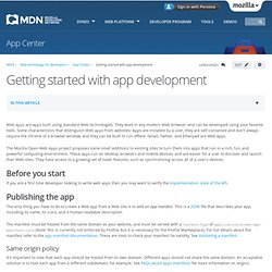 Getting started with app development - Apps