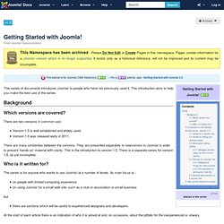 Getting Started with Joomla! 1.5