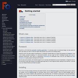 Getting started - FreeCAD Documentation