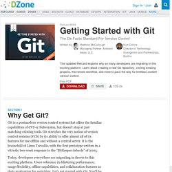 Getting Started with Git - DZone - Refcardz