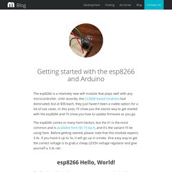 Getting started with the esp8266 and Arduino