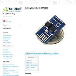 Getting Started with ESP8266 – Seeed Studio Blog