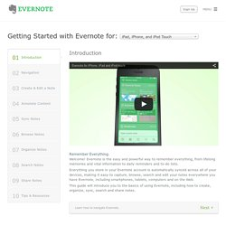 Evernote Tutorial for ipad