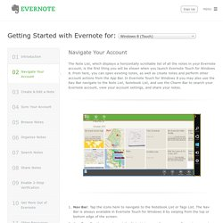 Getting Started with Evernote Touch for Windows 8