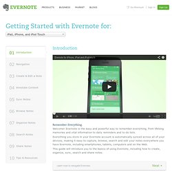 Getting Started with Evernote for iPhone, iPad & iPod Touch
