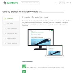 Getting Started with Evernote Web