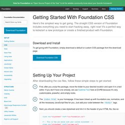 Getting Started With Foundation CSS