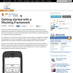 Getting started with a Mocking Framework