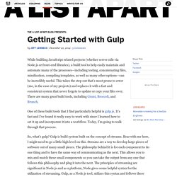 Getting Started with Gulp · An A List Apart Blog Post