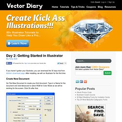 Day 2: Getting Started in Illustrator | Vectordiary