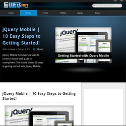 10 Steps to Getting Started with jQuery Mobile - Waterfox