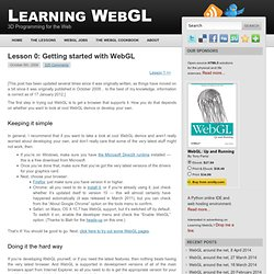 Lesson 0: Getting started with WebGL