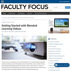Getting Started with Blended Learning Videos