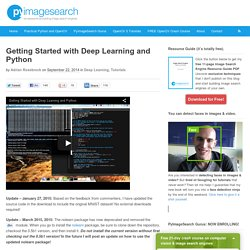 Getting Started with Deep Learning and Python - PyImageSearch