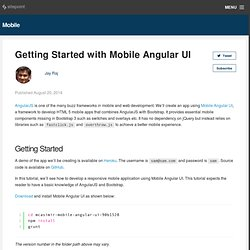 Getting Started with Mobile Angular UI