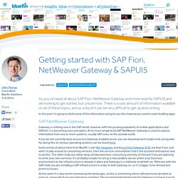 Getting started with SAP Fiori, NetWeaver Gateway & SAPUI5