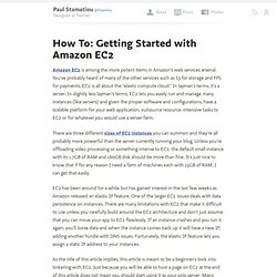 How To: Getting Started with Amazon EC2