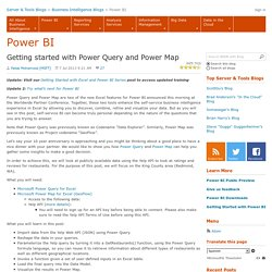 Getting started with Power Query and Power Map - PowerBI - Site Home - MSDN Blogs