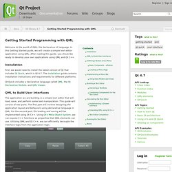 Getting Started Programming with QML