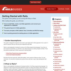 Getting Started with Rails