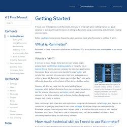 Getting Started - Rainmeter 3.1 Manual
