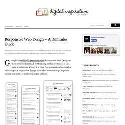 Getting Started with Responsive Web Design - A Dummies Guide