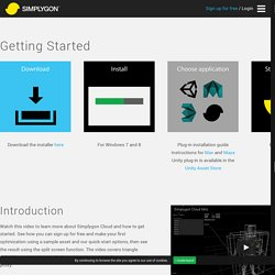 Getting started - Simplygon