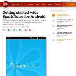 Getting started with SparkNotes for Android