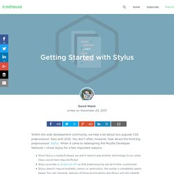 Getting Started with Stylus