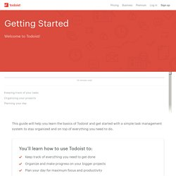 Getting Started with Todoist