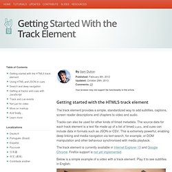 Getting Started With the Track Element
