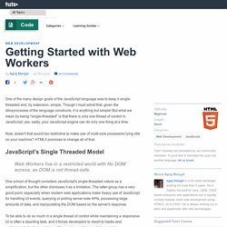 Getting Started with Web Workers