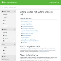 Getting Started with Vuforia Engine in Unity