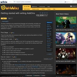 Getting started with writing AddOns - WoWWiki - Your guide to the World of Warcraft
